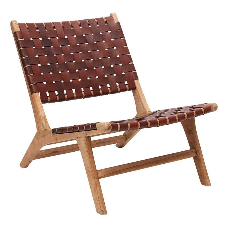 Living Furniture Kilroy Indbo Fåtölj Linnea Trä Läder Mocca