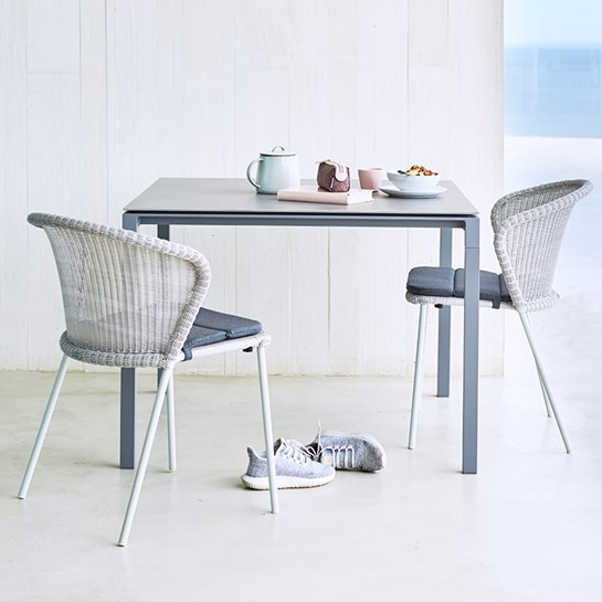 Cane Line Matbord Pure Kvadratiskt Light Grey